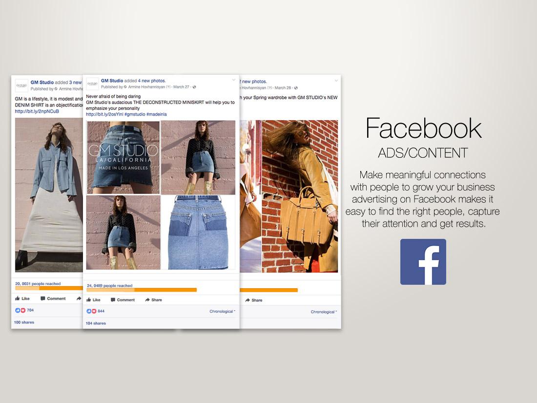 Facebook Ads/Content for GMStudioLA